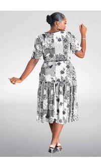 FERIDA- Printed Short Sleeve Dress