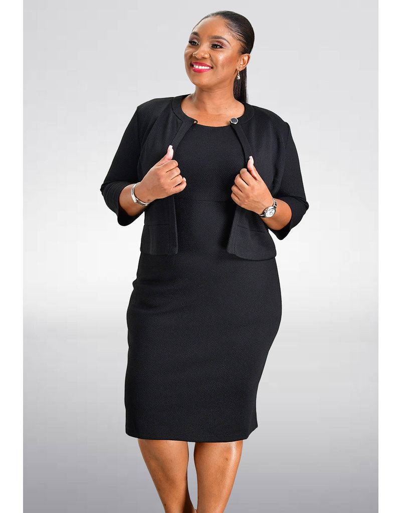 ERICA- Solid Dress with Jacket