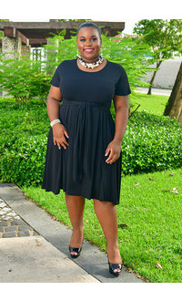 Signature JENNY- Plus Size Tee Shirt Dress with Sash