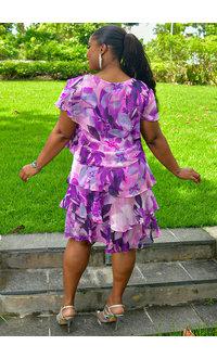 FELICIDAD- Floral Print Shutter Dress