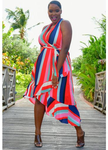 Julia Jordan RASEDA- Printed Mid Length Dress