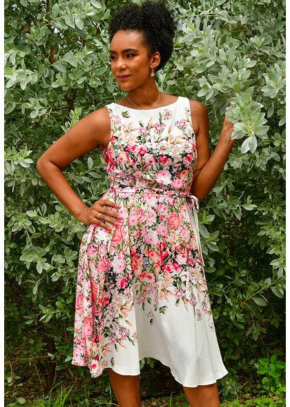 REMANDA- Placement Print Dress
