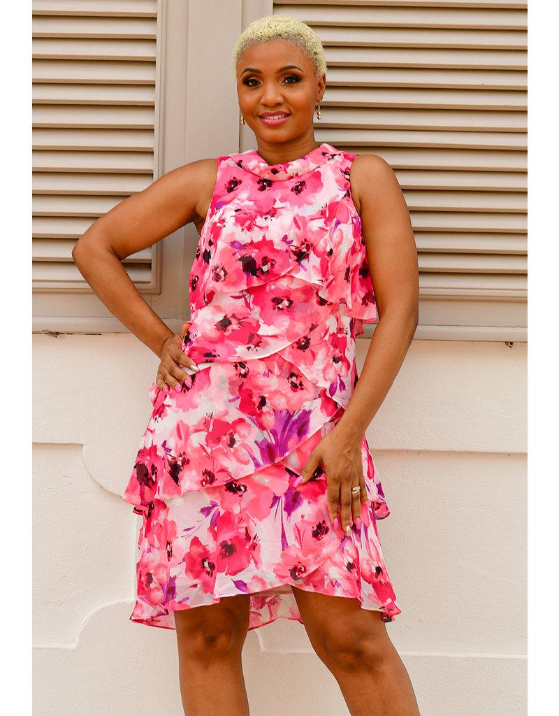 FRAYNE- Layered Floral Dress