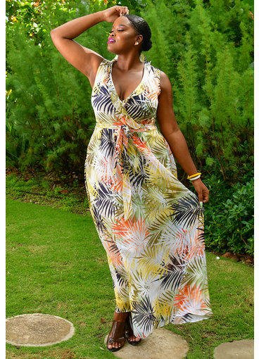 FELLAN- Printed Maxi Dress