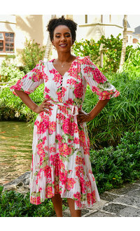 FIERR- V-Neck Floral Dress