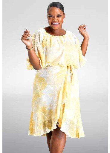 Maison Tara FANETA- Printed Long Sleeve Dress