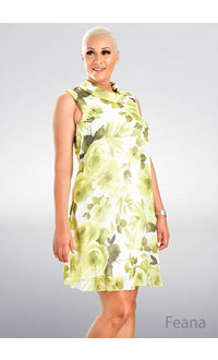FEANA- Floral Chiffon Overlay Dress