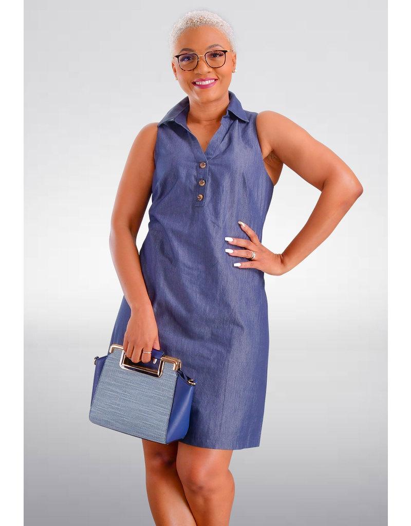 KALANA- Sleeveless Jeans Dress
