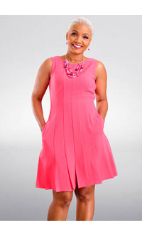 Jessica Howard RIANEA- Armhole Split Pleat Hem Dress
