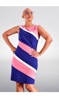 RAZI- Colour block Sheath Dress