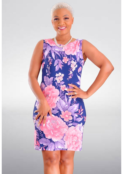 GAFNA- Floral Print Sheath Dress