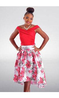 DUUL.CE TENA- Petite Hi-Lo 2 Piece Dress