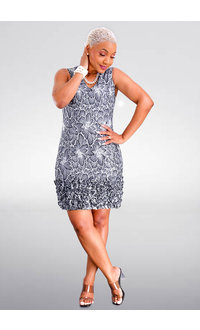 LEANDA- V-Neck Ruffles Bottom Dress