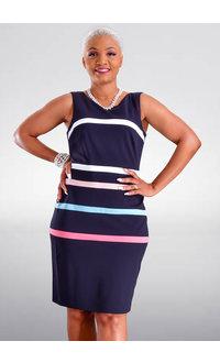 RESHAL- Colour Block Sheath Dress