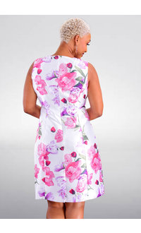 GLAMOUR HENNY- Floral Round Neck Dress