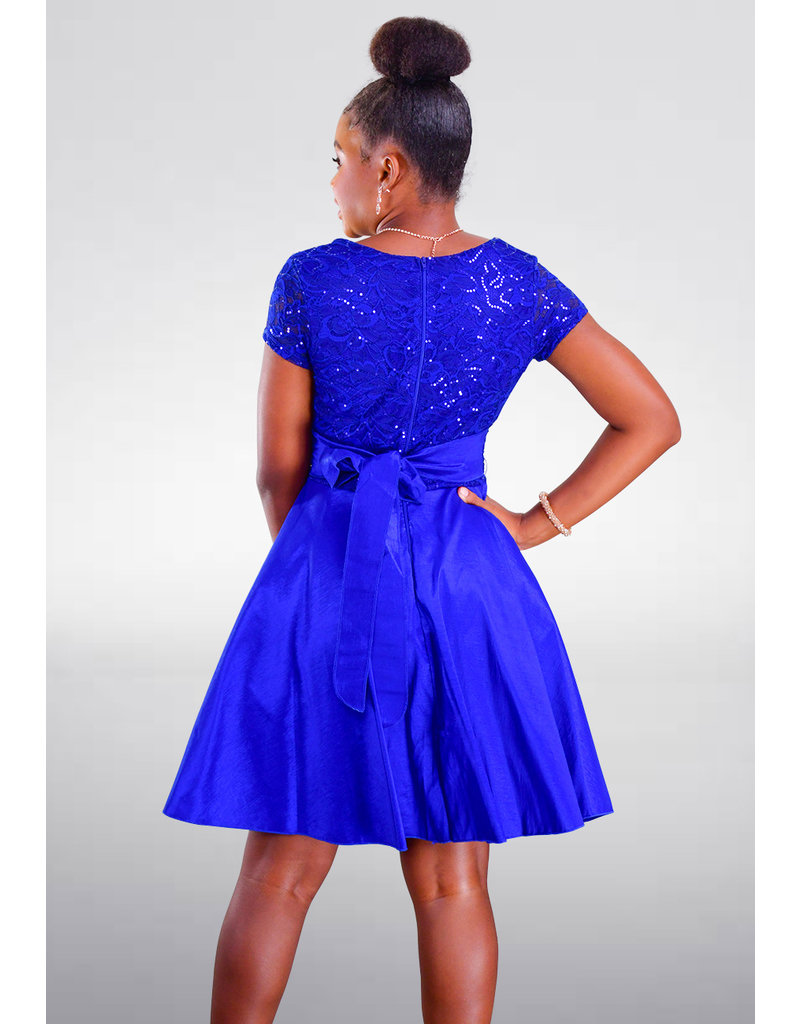 DUUL.CE TIAA- Petite Lace Short Sleeve Dress