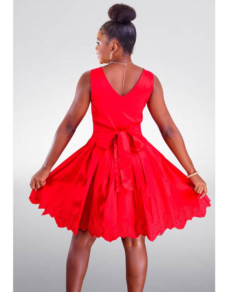 DUUL.CE TIFFIE- Petite Dress with Floral Pattern Hem