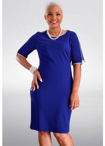 GLAMOUR RAYLI- 3/4 Sleeve Round Neck Dress