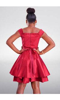 DUUL.CE TEAMO- Petite Off Shoulder Jewel Band Dress