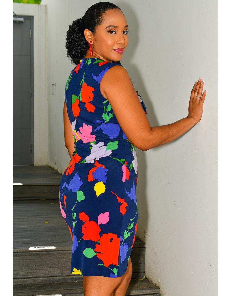 Julia Jordan FREJA- Printed Faux Wrap Dress