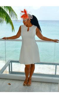 Jessica Howard ERRAN- Armhole Fit & Flare Dress with Keyhole