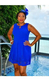 Jessica Howard EDEN- Fit & Flare Keyhole Dress