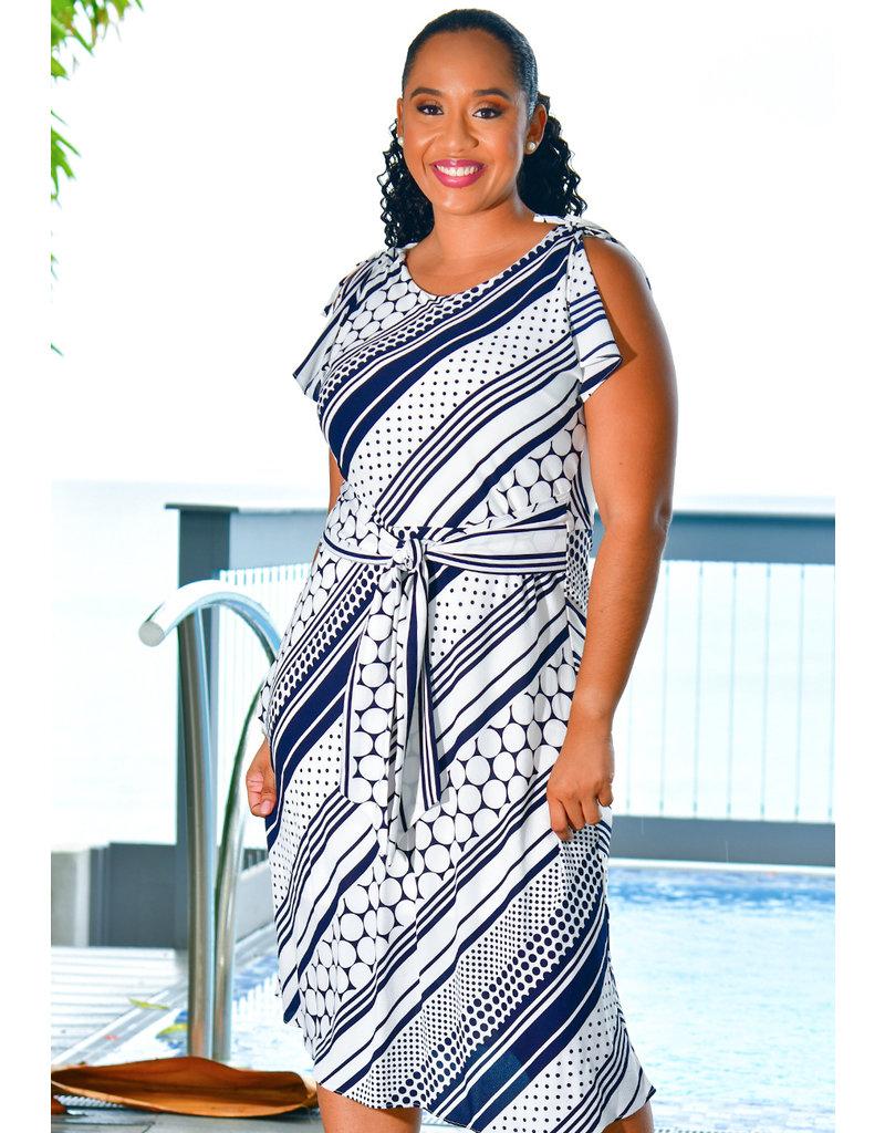 Signature REKIM- Printed Split Sleeve Dress