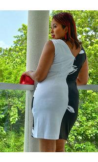 RENICE- Printed Sheath Dress