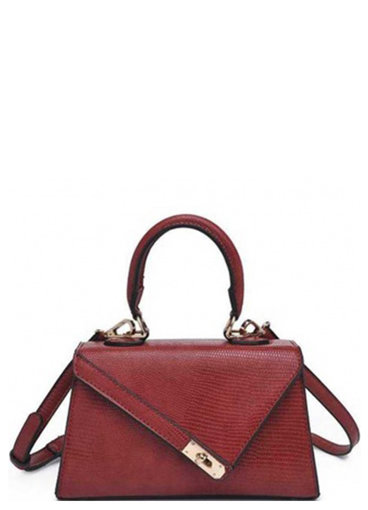 Solid Textured Crossbody Bag