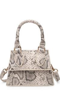 Snake Skin Mini Crossbody Bag