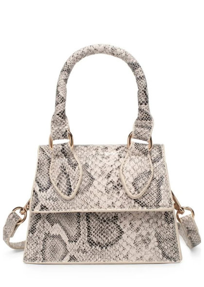 Snake Skin Mini Crossbody Bag