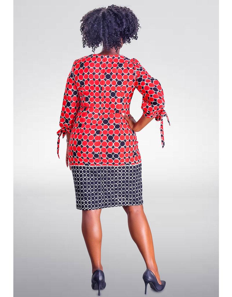 RIDA- Printed Three Quarter split Sleeve Dress