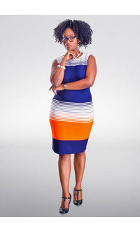 REDZ- Printed Sheath Dress