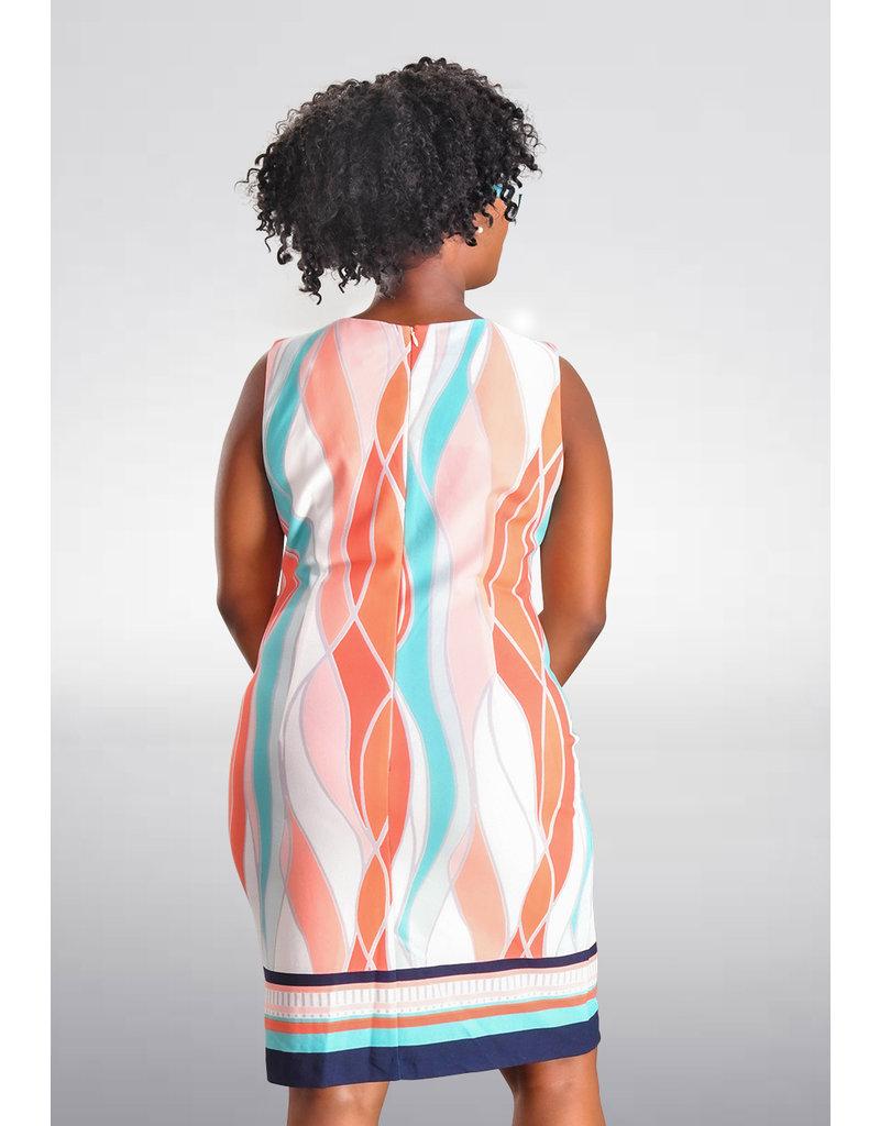 RUTHIE- Printed Armhole Sheath Dress