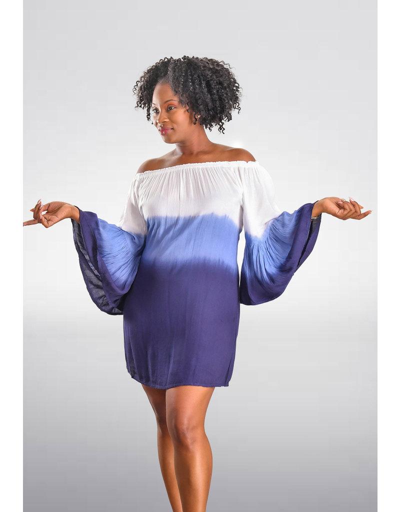 ACE Fashions KALIYAH- Tie-dye Bell Sleeve Dress