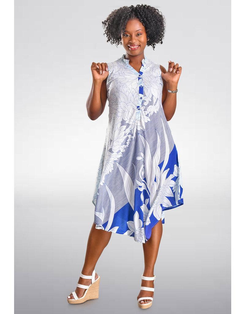 SEVEN ISLANDS KELANO- Flower Armhole Shirt Dress