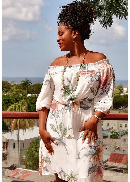 KILLIAN- Floral Off Shoulder Dress