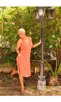 KEANI-  V-neck Belt Dress