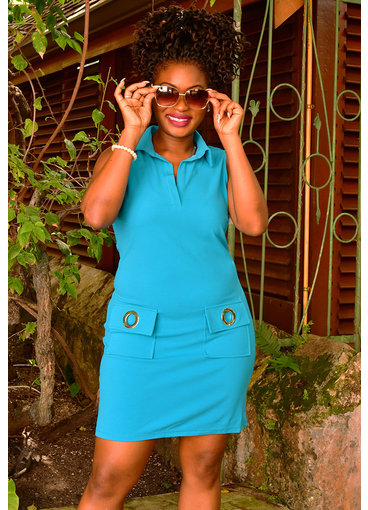 MSK RENISHA- T-shirt Dress with Pockets
