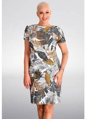 RISANDRA- Printed Short Sleeve Dress