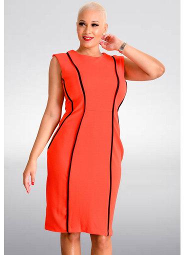 Shelby & Palmer BENNY- Broad Strap Dress With Black Seams