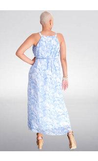FEMA- Long Tie-Dye Steam Pleat Dress