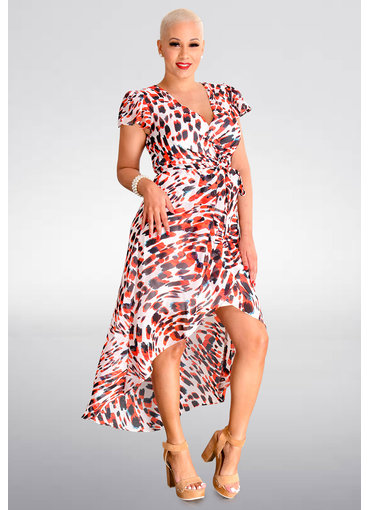 Julia Jordan FERGIE- Printed Cap Sleeve Dress