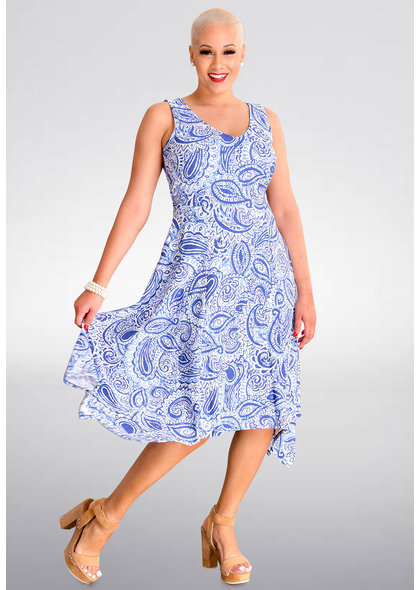 IAKOVOS- Printed Handkerchief Dress