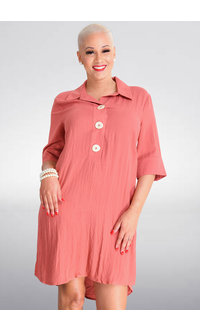 KIARA- Shirt Dress with Collar & 3 Buttons