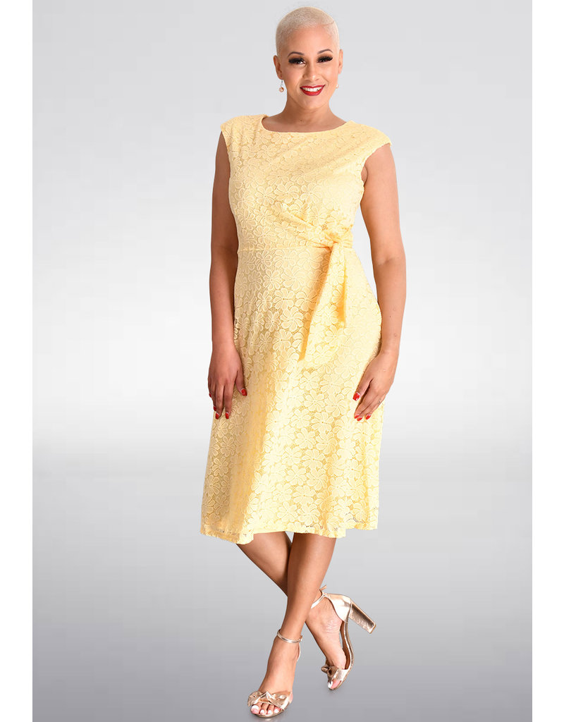 LOUSIE- Lace Dress with Tie at Front