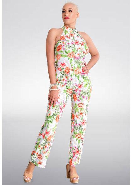 Bebe PAITYN- Floral Hi Neck Jumpsuit