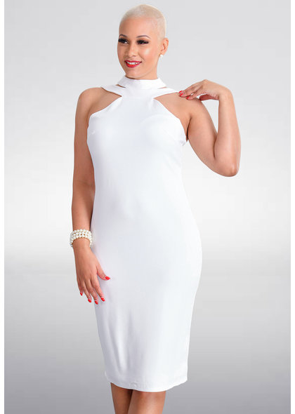 Bebe PREEDA- Halter Dress with Cut outs