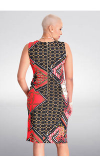 Shelby & Palmer REDEAN- Round Neck Chain Print Dress