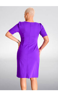 Shelby & Palmer RENIX- Short Sleeve Dress with Ruching